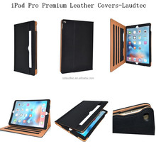 Luxury Magnetic tan Leather Wallet Smart Case Cover For Apple iPad Pro / Air / Mini