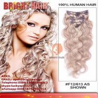 100% japanese kanekalon synthetic fiber clip hair extension
