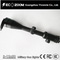 China Rifle Tactical Scope 3-12x50 Mil Dot Reticle Glass Etched Military Rifle Scope