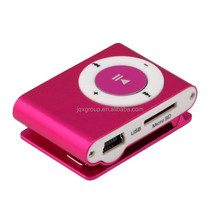 [JQX] sport mp3 clip USB FM radio waterproof mp3 player with TF slot