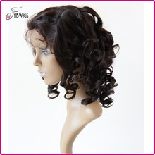 6A Grade Spring curl Wholesale cheap human hair full lace wig with baby hair for black women 6~30inch Full lace wig Malaysia