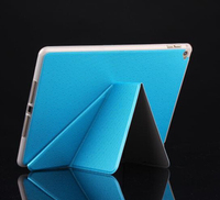 Transformers Matte Folding Smart Cover Leather Case For ipad air 2