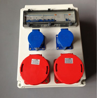 outdoor electrical power distro /distribution box with 32A & 63A socket outlets