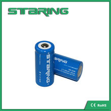 Cheap price !!! high recycle rechargeable rate 16340 battery 600mah lithium ion battery made in china