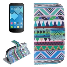 universal phone case flip leather cell phone cover for alcatel one touch pop c5 case