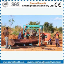 Horizontal Band Saw Mill Electric/Diesel Engine Powered Wood Cutting Bandsaw Mill Portable Horizontal Band Sawmill