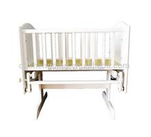 Christmas crib baby bassinet/wood single cot bed