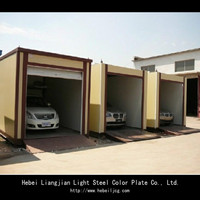 Light Steel structure flat pack portable house
