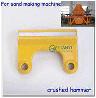 Reliable quality crushed hammer with excellent work tungsten carbide tips for sand making machine