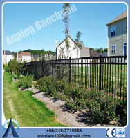 2015 Baochuan new style fashionable beautiful steel /wrought iron/aluminum fence with competitive price
