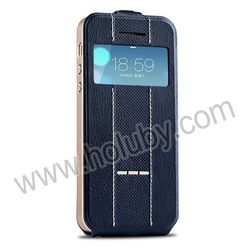 JOYROOM Caller ID Window with Smart Sliding Function Magnetic Vertical Flip Leather Case for iPhone 5/5S