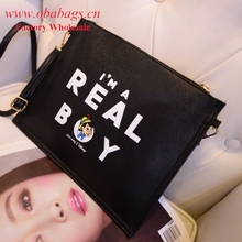Fashionable envelope faux suede Clutch bag