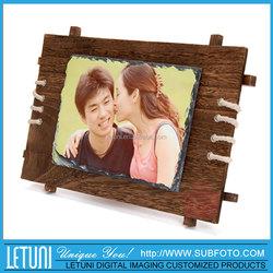 Custom Sublimation Printing Decorative Marble Stone Photo Frame