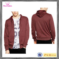 New design 100% cotton pullover heavyweight cotton zip up hoodie