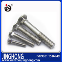 High quality carbon steel mushroom head square neck chrome plated bolts