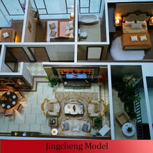 real estate building miniature interior models