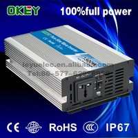 1500W 24Vdc to 110/220Vac pure sine wave power inverter frequency converter 50hz/60hz