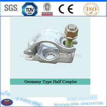 Germany construction type half swivel coupler with nut and bolt