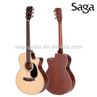 Saga acoustic guitar with beautiful guitar rosettes, SA700C