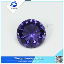China whole purplr color beautiful glass stone