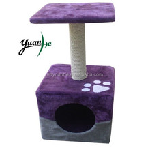 Small Double Color Cat Scratching Tree With Scratching Post/Cat Scratching Toy