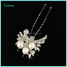 New design bridal hair accessory, wholesale pearl&crystal bridal hairpin for hair accessories