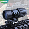 Hot Black 3X Magnifier Rifle Scope Red dot sight lens