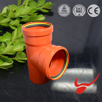 hot sale in russian for drainage EN1401/EN1329 upvc fitting with rubber joint