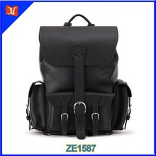 2015 Fashion cool leather backpack bag for mens leather back pack male