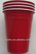 fresco rojo de plástico partido copas tazas