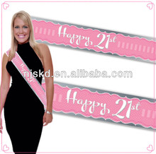 fashion satin printed pageant customize sash for celebration-014