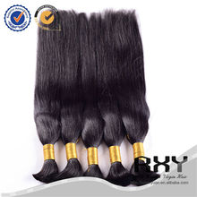 Mink virgin indian hair wholesale braiding, hair attachment for braids