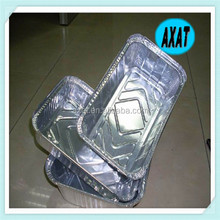 Aluminium Foil Food Containers Rectangle With Cardboard Lid/aluminium foil food container / hot sale