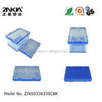 Plastic cloth storage container foldable food storage container with handle
