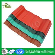 anti-corrosion fireproof heat resistance vinyl roof sheets pvc tile roof, tile roof machine