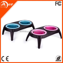 new design with stand plastic pet bowl for dog/cat