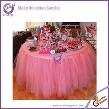 pink table skirts wedding party elegant nice tulle table skirt
