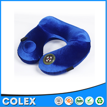 Newest Automatic air U-shaped relax massage music neck pillow with pouch