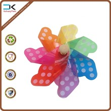 Fashion picture printed plastic pinwheel for decoration