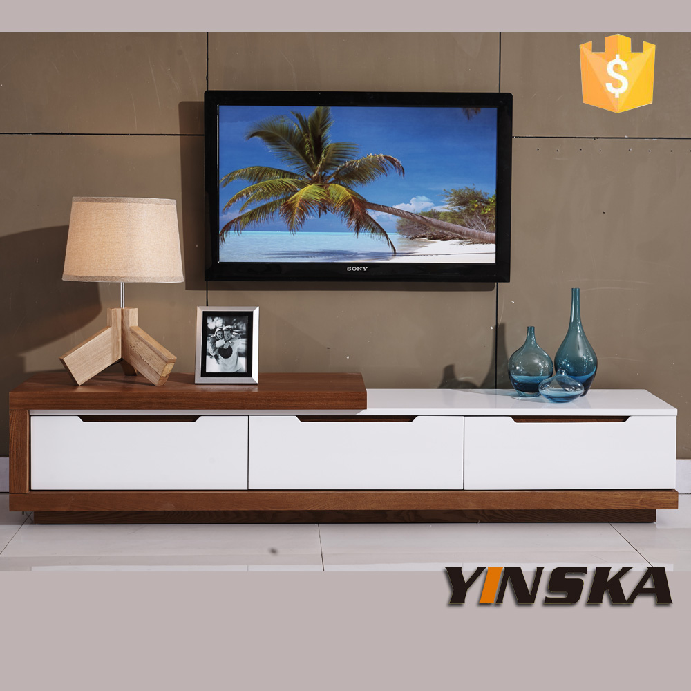 Wood lcd tv table design high gloss tv cabinet for Table tv design