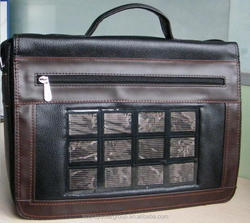 Solar charger bag, solar laptop bag for conference use whenever and wherever