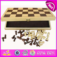 2015 High Quality Wooden chess for kids,Hot Sale chess games for children,New travel chess board game for sale WJ277092