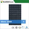 Price per watt mono solar panel 250w 60m with full certficate