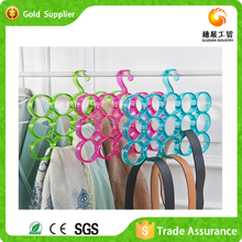 Fashion plastic scarf hanger with 15 holes for scarf tie pp hanger