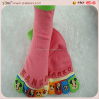 cartoon red animal sex girls socks toe factory OEM China
