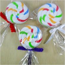 Kids Favourite Design with Lollipop Towel / Lollipop Gift Towel / 100% Cotton Gift Towel Hot Sale