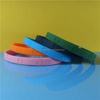 6mm deboss wristbands thin silicone bracelets engrave bracelets