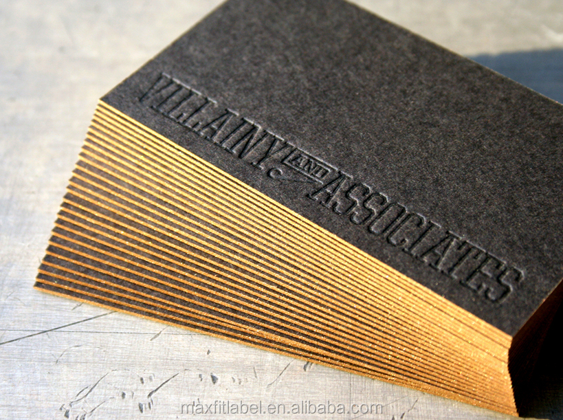Print Color Border Debossed Embossed The Letter Luxury Business Card ...