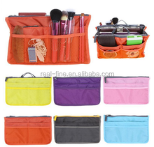 3pcs/lot, Lady's Cosmetic Storage Pouch Purse Large Liner Tidy Travel multi functional cosmetic bag organizer handbag 6 Colors