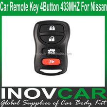 Auto Remote Key 4Button 433MHZ For N issan Car Remote key